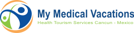 Logo My Medical Vacations Blanco | Medical Tourism Cancun