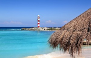 cancun-lighthouse-turquoise-caribbean-beach